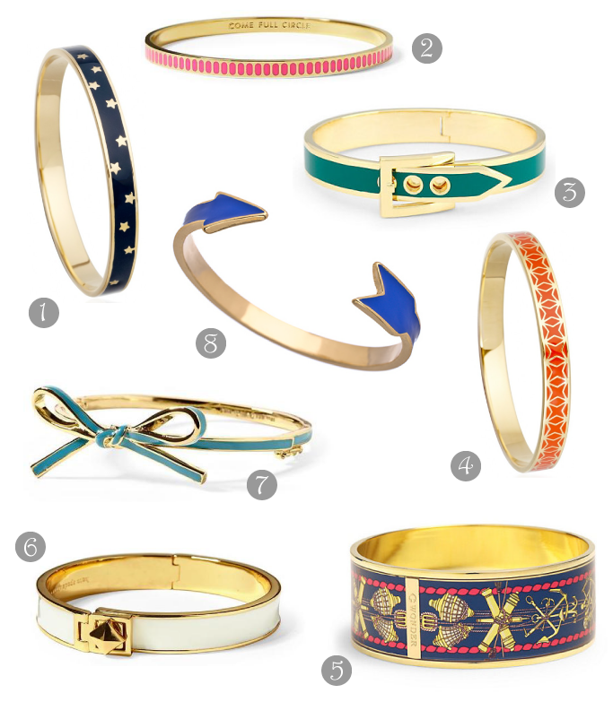 District of Chic enamel bangles picks