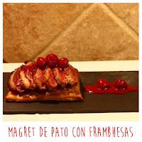 Foto: Magret de pato con frambuesas