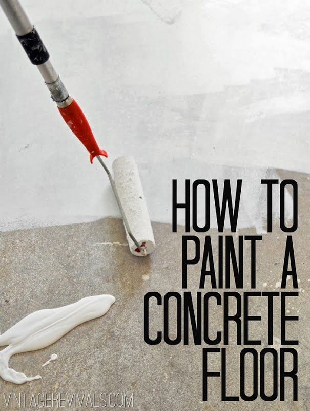 Tip: How to Paint a Concrete Floor