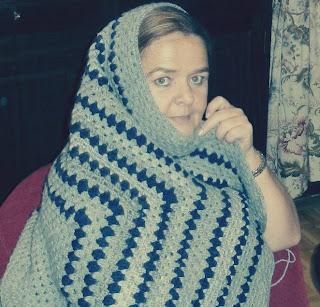 Con la manta de abuela
