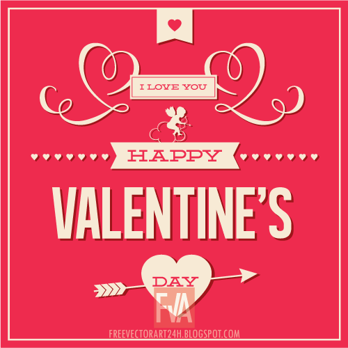 nice valentines day love card vector graphics free