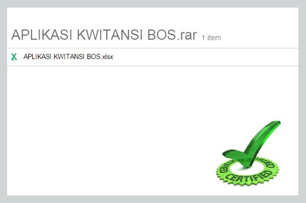Aplikasi Kwitansi Excel Penunjang Laporan SPJ BOS Format Microsoft Excel