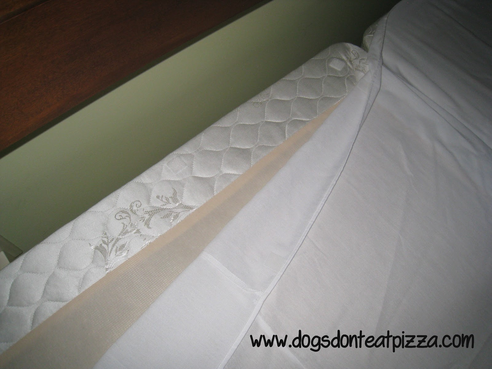 How To Keep A Bedskirt In Place Using Squares Of Hook And Loop (velcro)