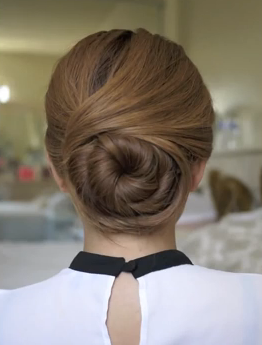 wedding updos for long hair - the twisted bun