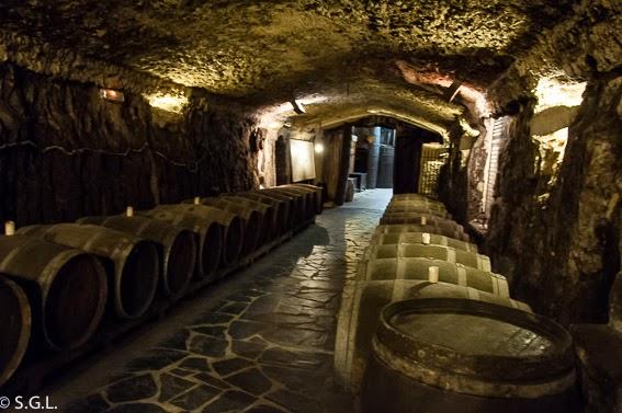 Interior bodega Eguren Ugarte. De excursion a Laguardia