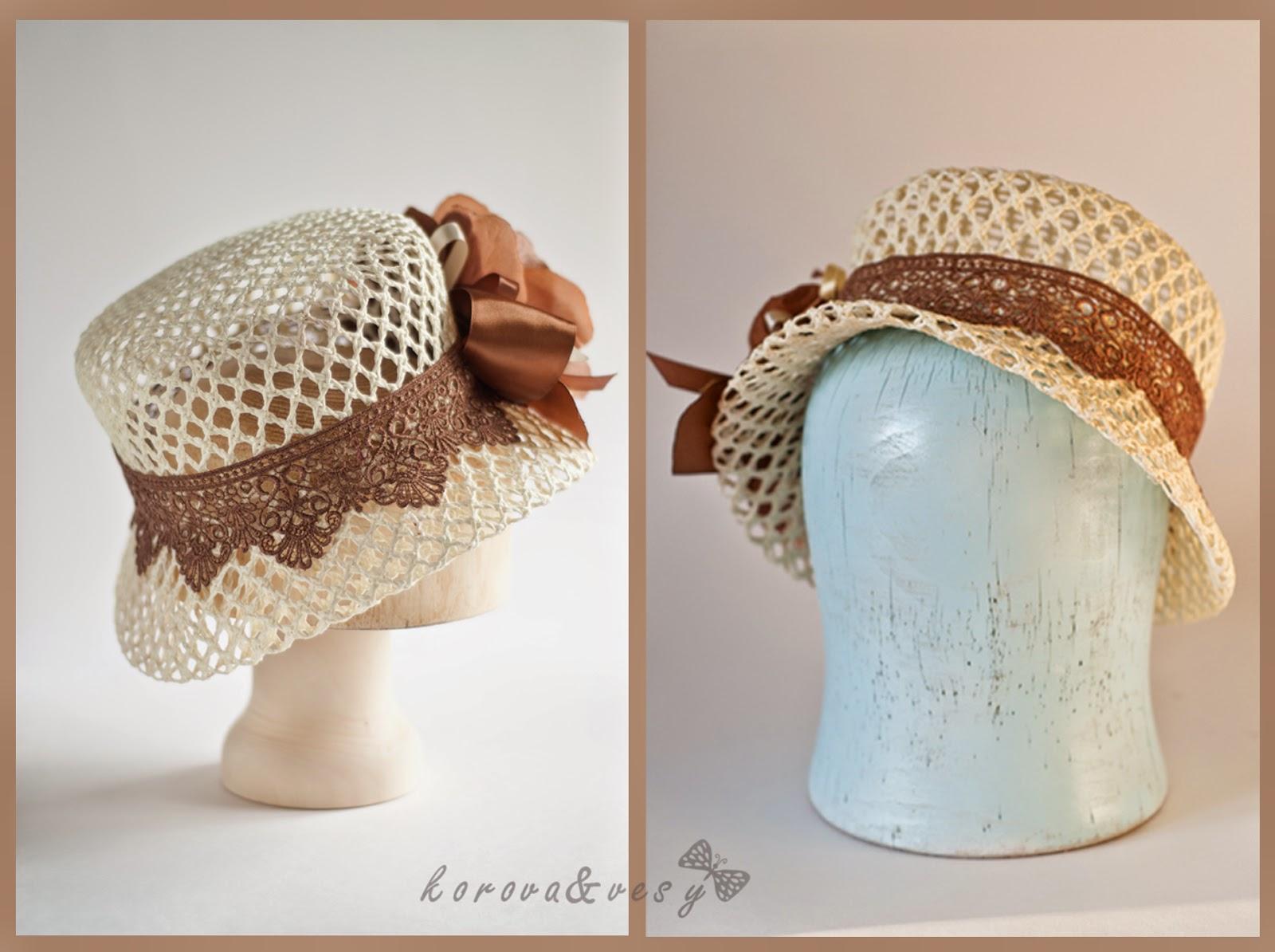 Как сделать шляпку выкройки шляп Hand-made 8