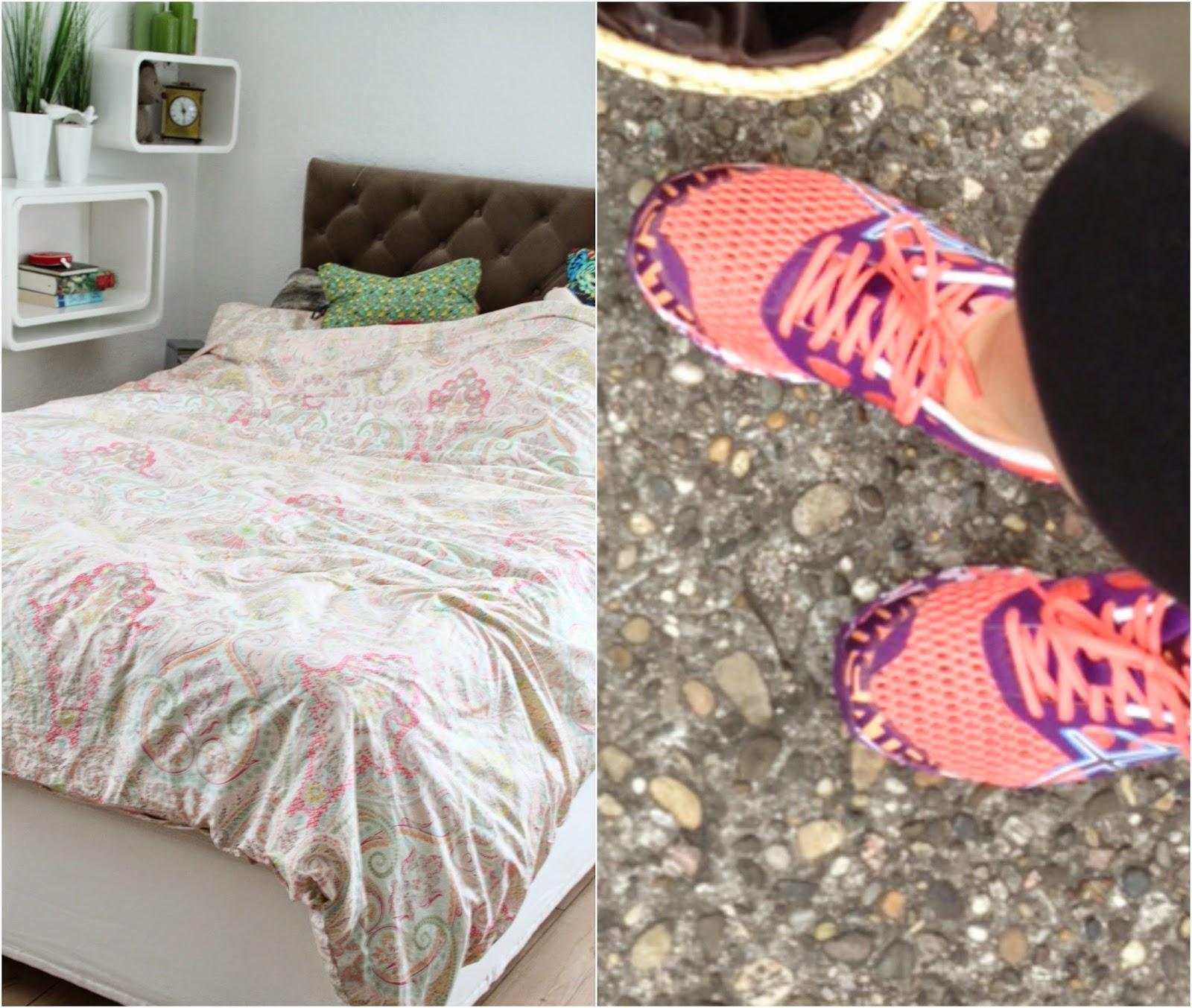 neue Bettwäsche und neue Sportschuhe