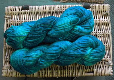 Hand-dyed Bluefaced Leicester Roving Yarn