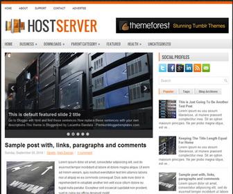 HostServer 2 Column Blogger Template