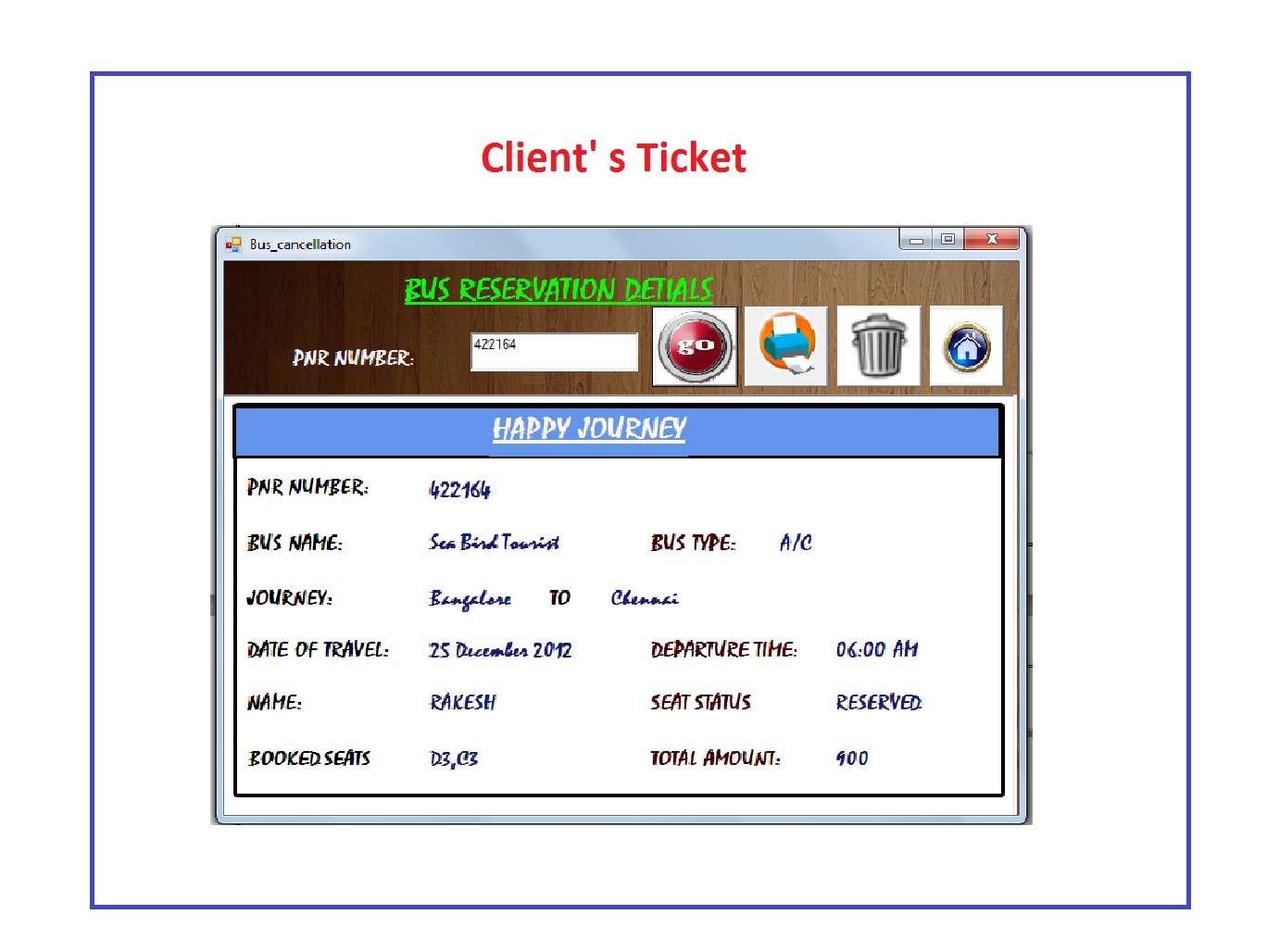 Tech Student Projects Travel Management System Using Vb Net