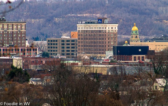 Downtown Huntington, WV from Spring Hill Cemetery