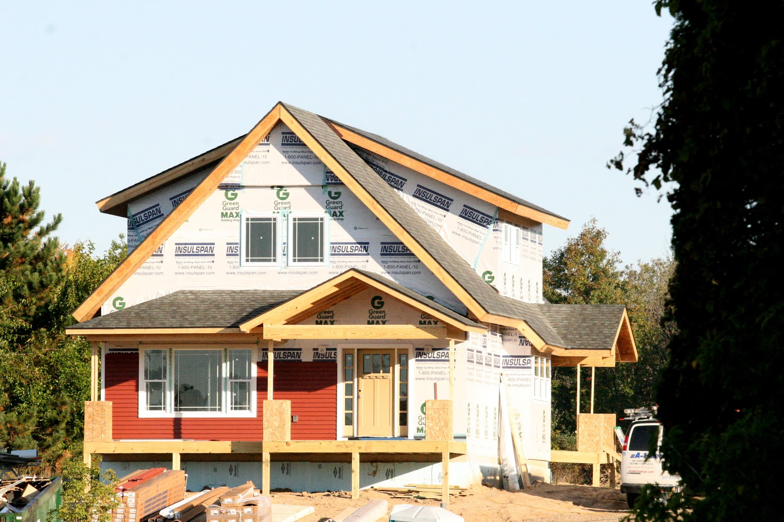 I married a tree hugger red siding yes please for Craftsman siding