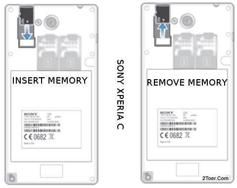 Sony Xperia C C2305 Insert Remove microSD Memory Card