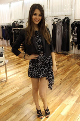 Beautiful Victoria Justice ALL LEGGY at the Max Azria Prom Contest