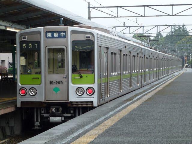 京王電鉄 各停 東府中行き1 都営10-000形幕式190F 200F(土日運行)