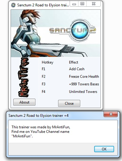 Sanctum 2 Road to Elysion Trainer +4 MrAntiFun