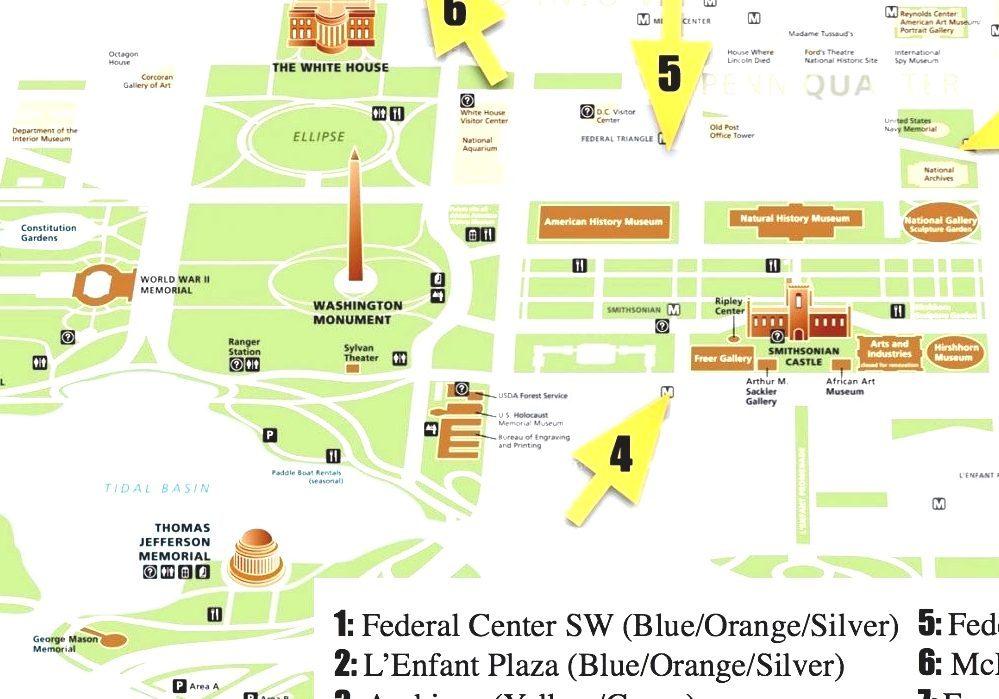 Washington dc metro map national mall