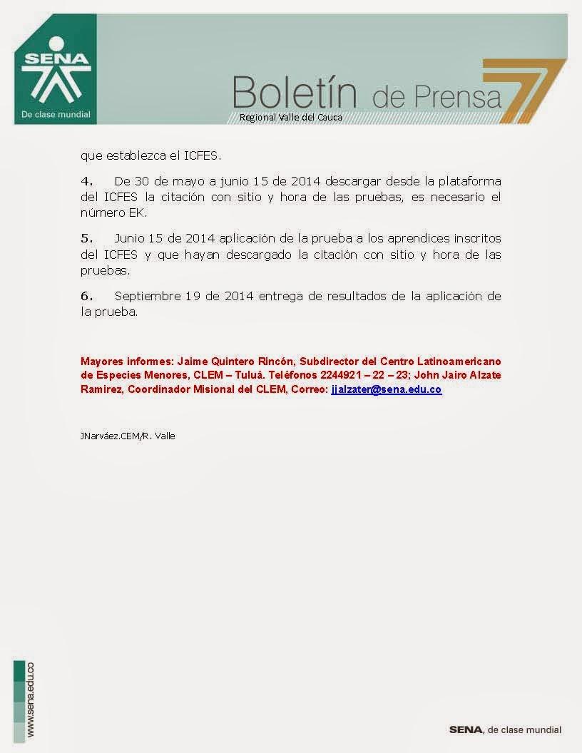 Centro latinoamericano de especies menores pruebas saber for Serna v portales