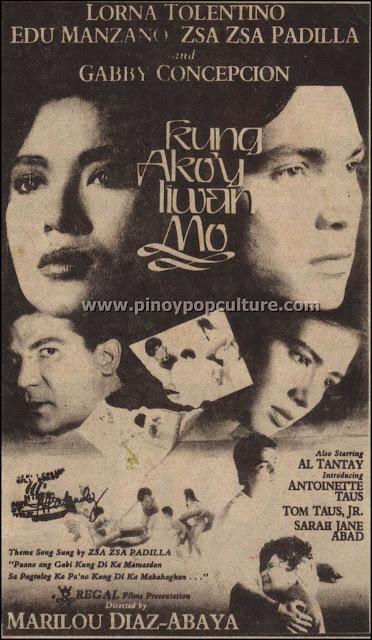 Kung Ako'y Iiwan Mo, Marilou Diaz-Abaya, movies,  Lorna Tolentino,  Edu Manzano, Zsa Zsa Padilla, Gabby Concepcion