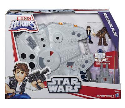TOYS : JUGUETES - PLAYSKOOL : Galactic Heroes - Star Wars  Halcón Milenario + Figuras - Muñecos | Millennium Falcon  Producto Oficial 2015 | Hasbro B3816 | Edad: 3-7 años  Comprar en Amazon