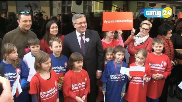 Bronisław Komorowski, dzieci i kampania. Prezydent znów wykorzystał dzieci do swoich celów, zapominając o ich rozwoju. foto: youtube.com (print screen)