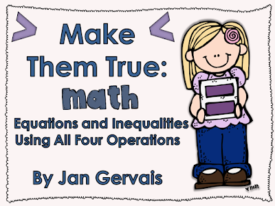https://www.teacherspayteachers.com/Product/Equations-and-Inequalities-All-4-Operations-1325151