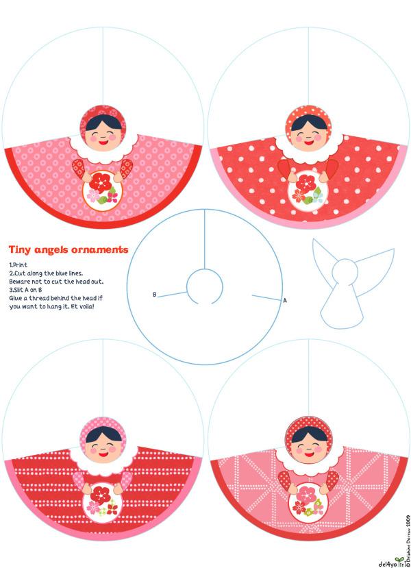 Бумажные куклы  ангелы, Объёмные бумажные куклы