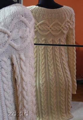 In progress – suknia mocno warkoczowa.