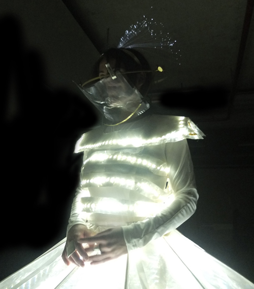 LED Dresses, Lecoanet Hemant, Bonjour India 2013, Bonjour India, French Embassy, Golden Thimble, Luminocity