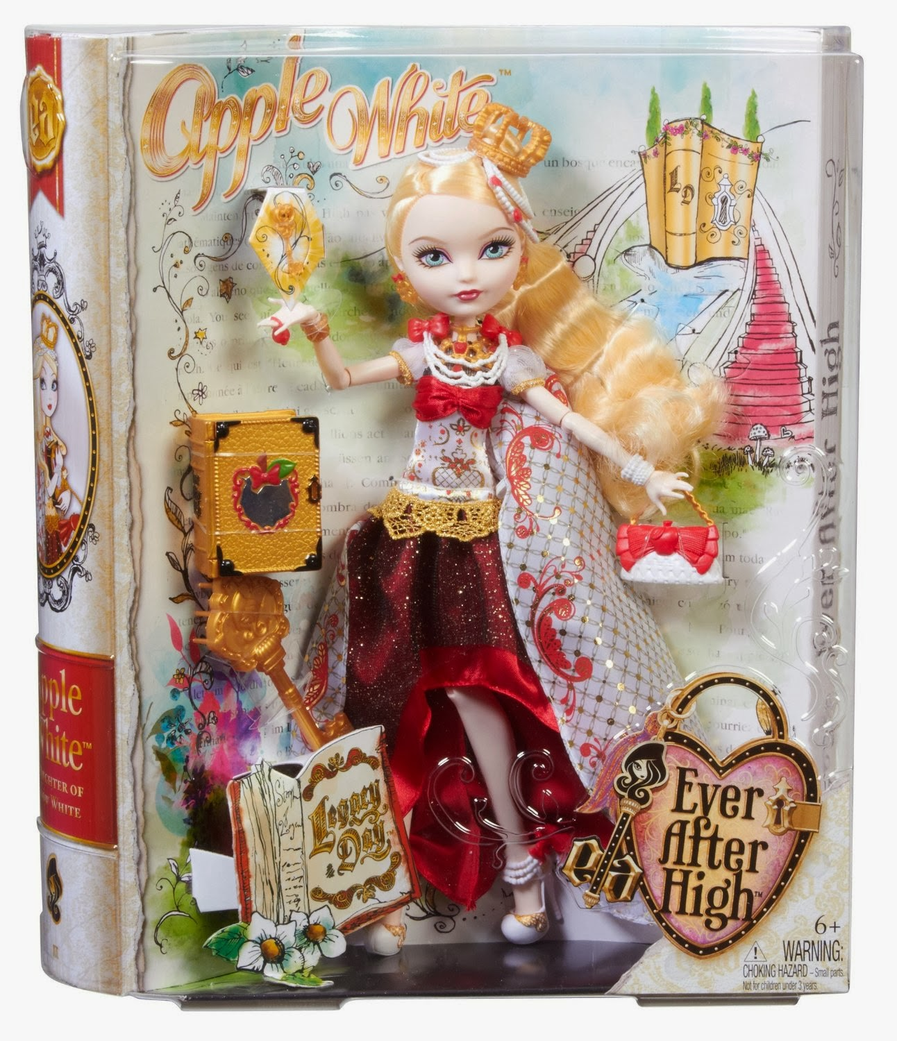 TOYS: APPLE WHITE - EVER AFTER HIGH - DIA DEL DESTINO Hija de Blancanieves | MUÑECA | DOLL - LEGACY DAY