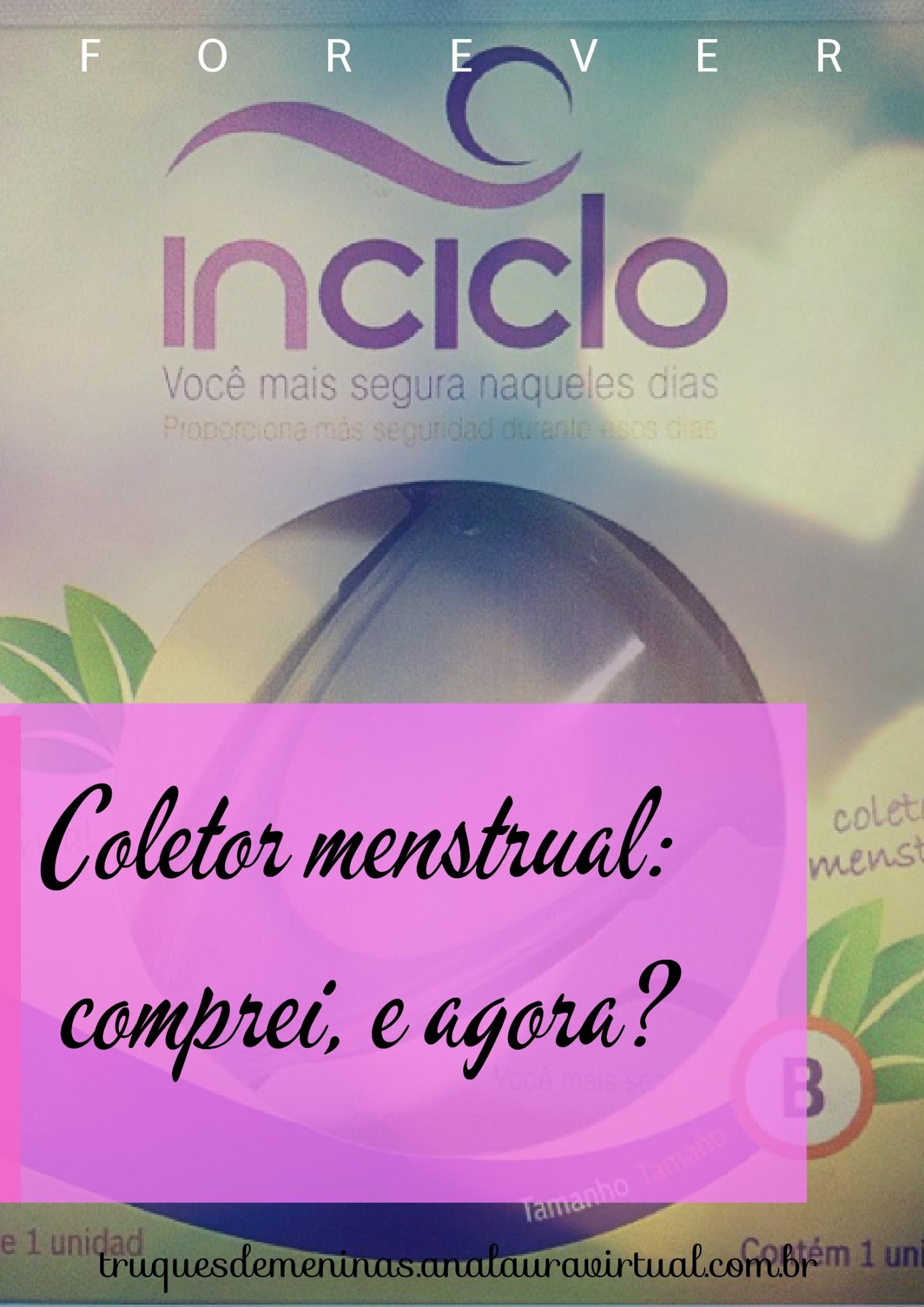coletor menstrual inciclo