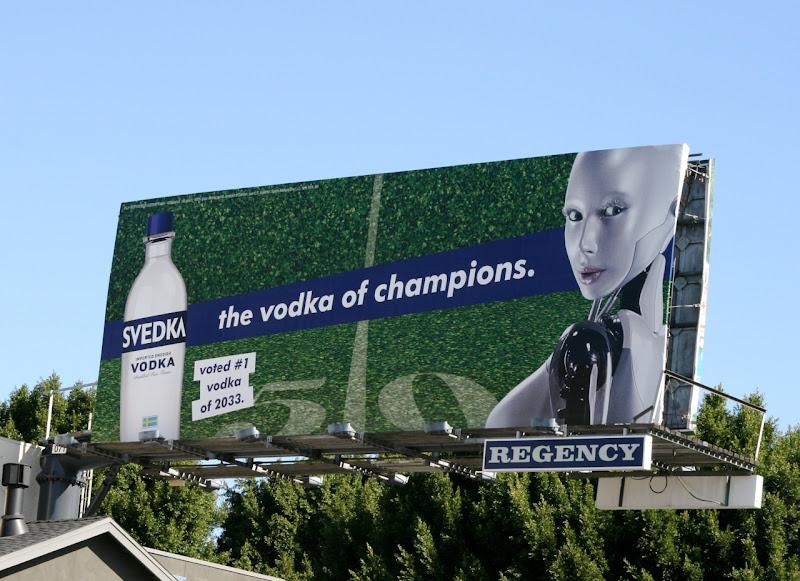 Svedka Vodka champions billboard