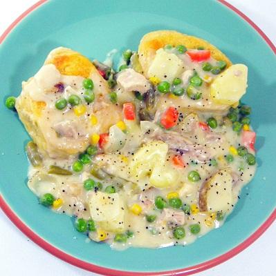 ... eRecipeCards: Fast and Easy Chicken Pot Pie... Um Chicken and Biscuits