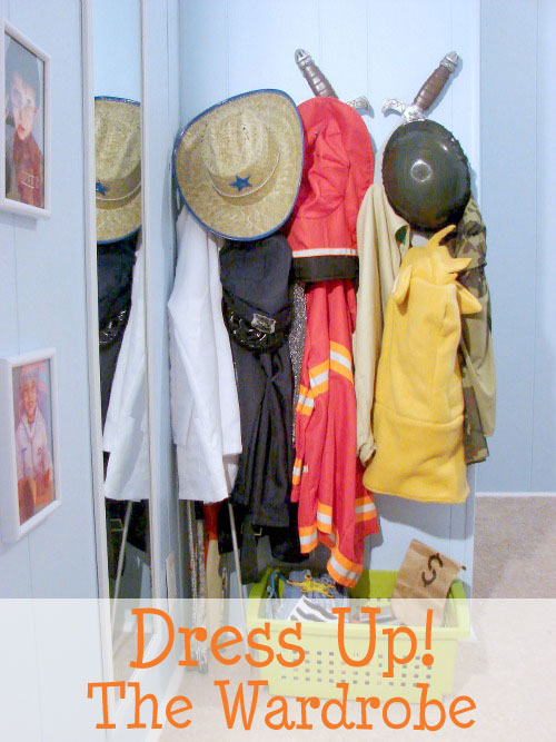 how to build a wardrobe for dress up play