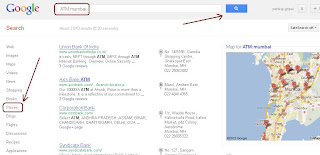 How to find ATM address from Google