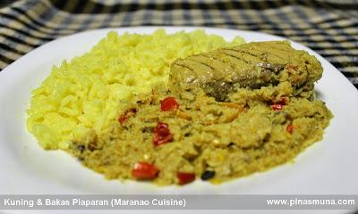 Turmeric Rice Kuning and Bakas Piaparan Maranao Tuna Dish