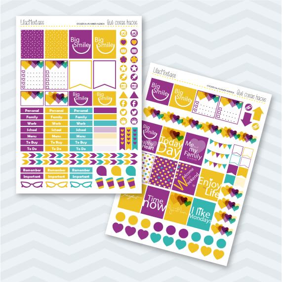 Stickers-pegatinas agendas-planners Erin Condren
