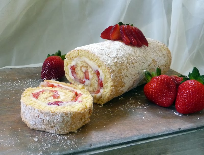 Strawberry Cake Roll Strawberry jelly roll cake