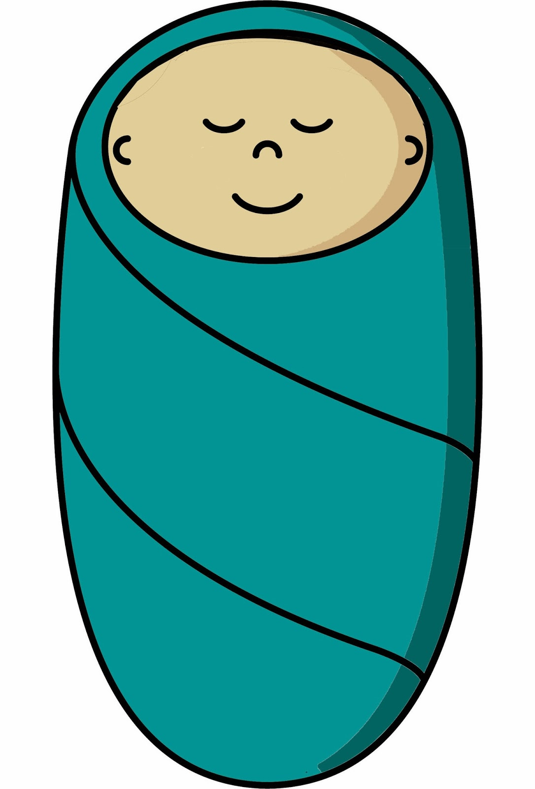 Cartoon Baby Swaddled Drawing decorations related keywords ...