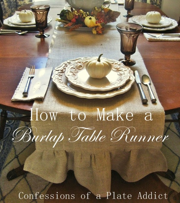 How To Make A Ruffled Burlap Table Runner