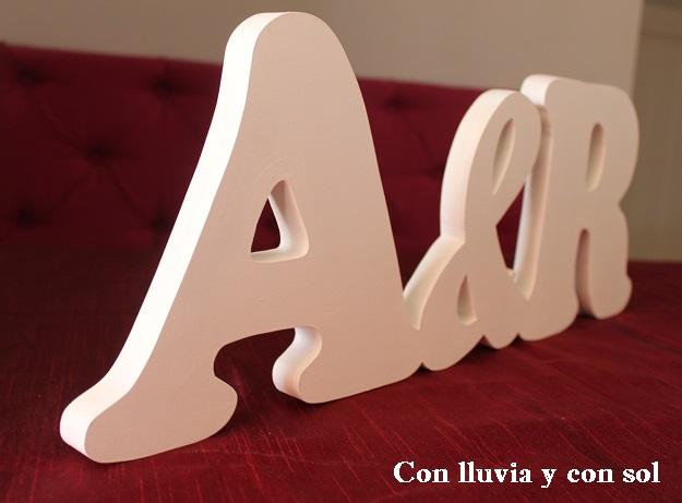 Con lluvia y con sol letras de madera para la boda de ngela - Casa letras madera ...