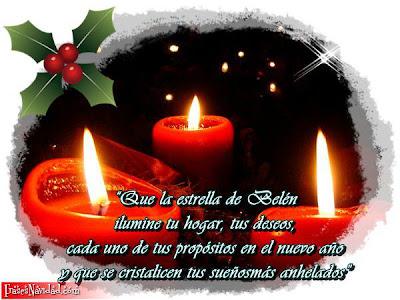 Velas de navidad con un bonito mensaje navideño
