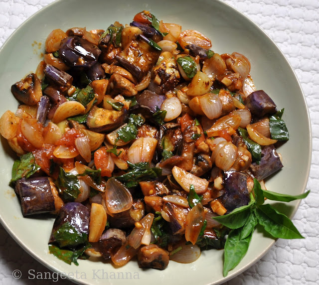 Caponata: Sicilian way of relishing eggplants...