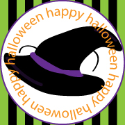 Free Printable Witch Hat Halloween Tag