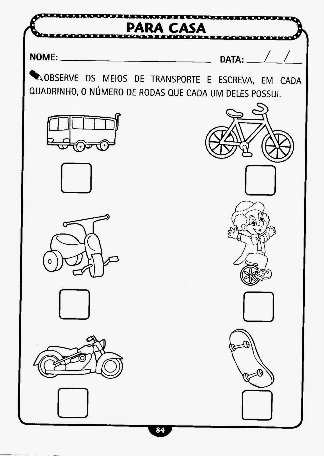 Well-known ESPAÇO EDUCAR: Semana do Trânsito - Atividades sobre trânsito e  XP45