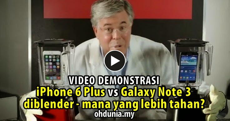 Video: iPhone 6 Plus & Galaxy Note 3 Diblender, Mana Lebih Tahan?