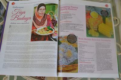 Resepi Amie's Little Kitchen Dalam Majalah AROMA Januari 2013