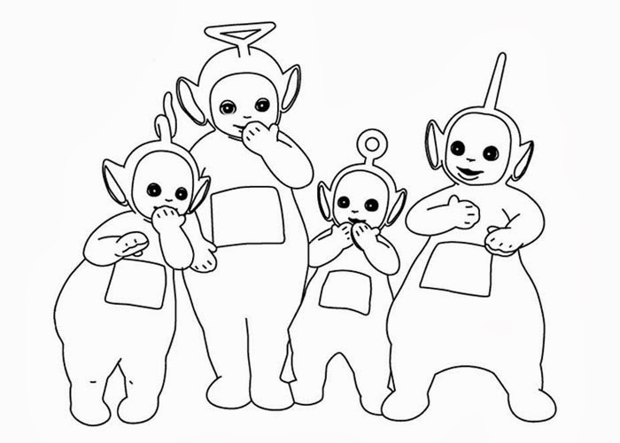 teletubbies sleeping coloring book coloring pages