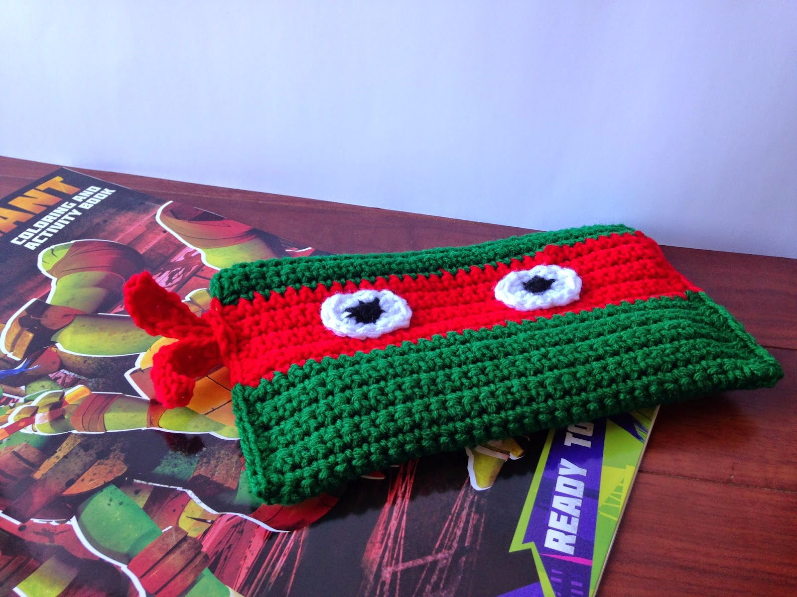 Crochet Ninja Turtle : Little Monsters: Free Pattern- Crocheted Ninja Turtle Pencil Bag