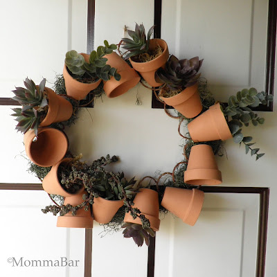 DIY Flower Pot Wreath | Featured on Tried & Twisted